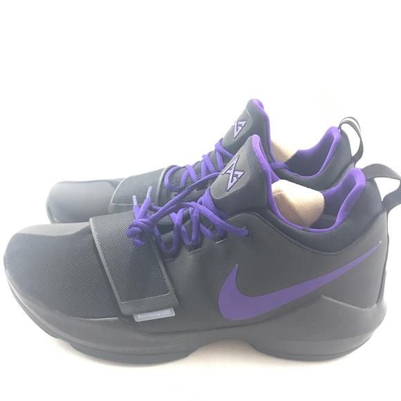 low priced 2f372 1fdb5 Nike ID Paul George PG1 Black Purple Basketball NWT